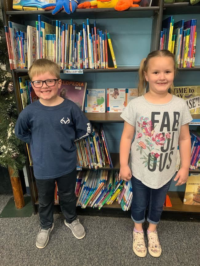 First grade Students of the Month