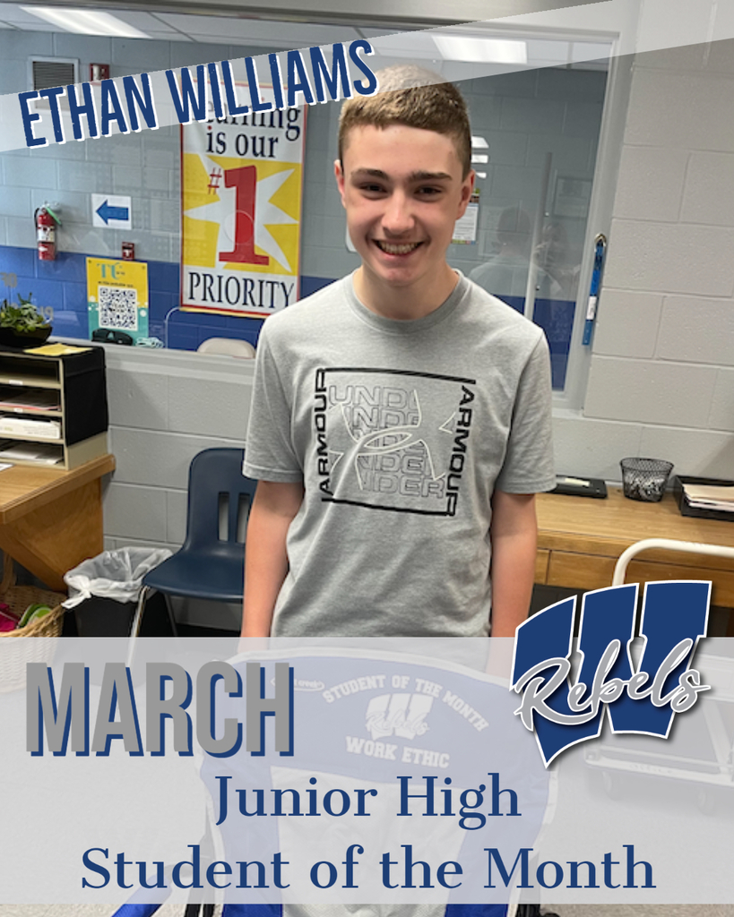 March Jr High Student of the Month
